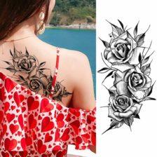 Tattoo nalepka 3 vrtnice