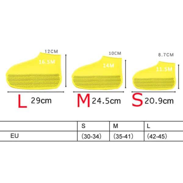 Vodoodporna prevleka za čevlje dimenzije