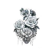 Zacasni tattoo crne vrtnice