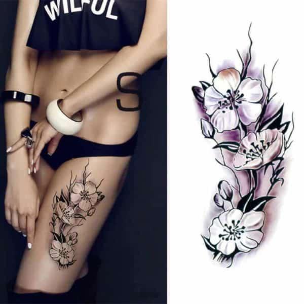 barvni začasni tattoo vrtnic