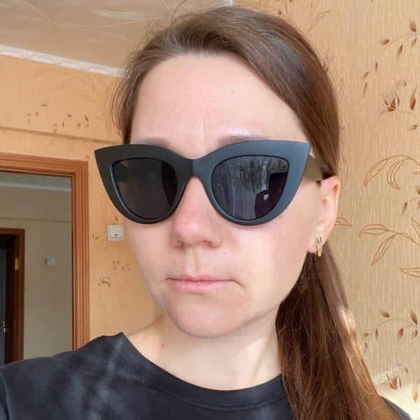 cat eye očala