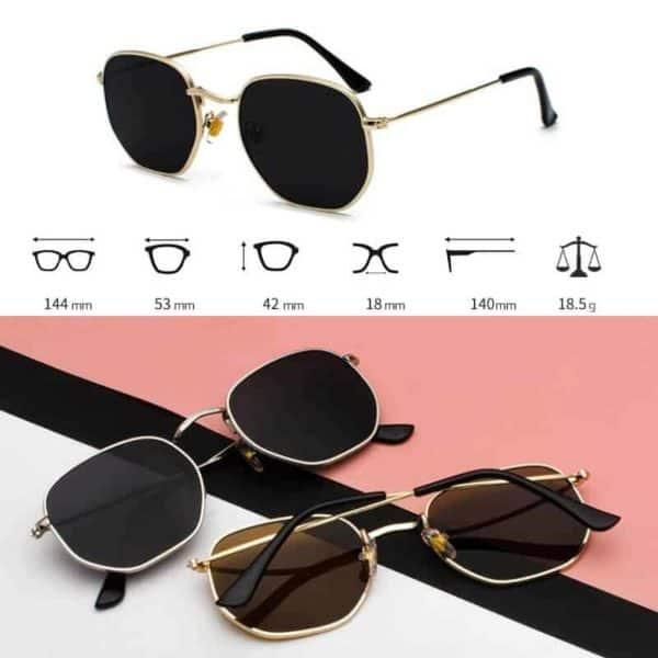 modna sončna očala dimenzije