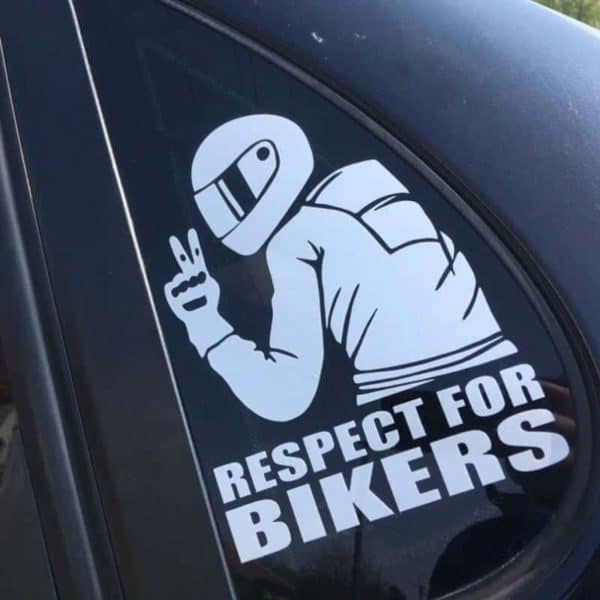 nalepka za avto respect for bikers