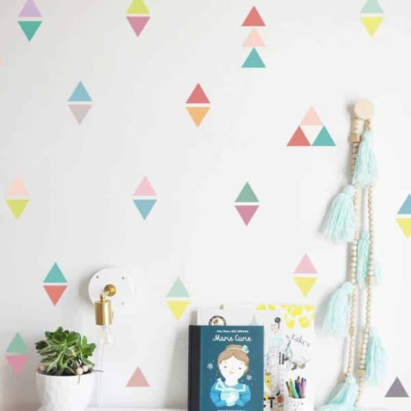 nalepke za otroško sobo v obliki trikotnika