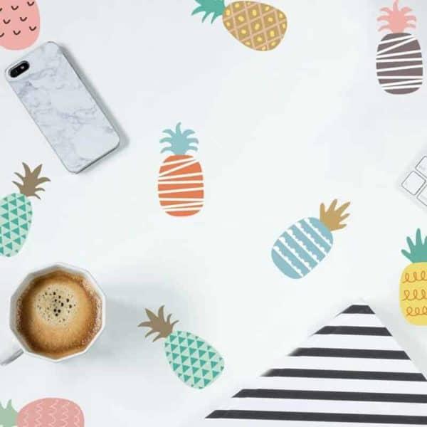 nalepke za otroško sobo vzorec ananas