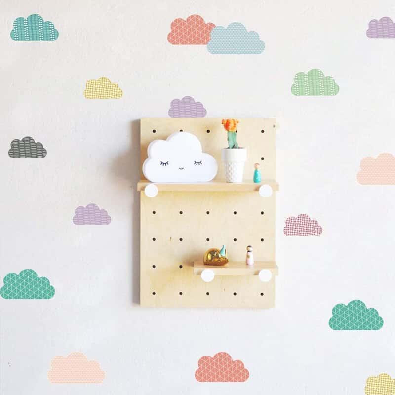otroške nalepke barvne oblaki