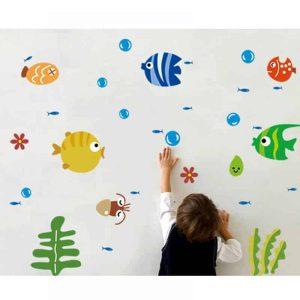 stenska nalepka za otroke morske živali