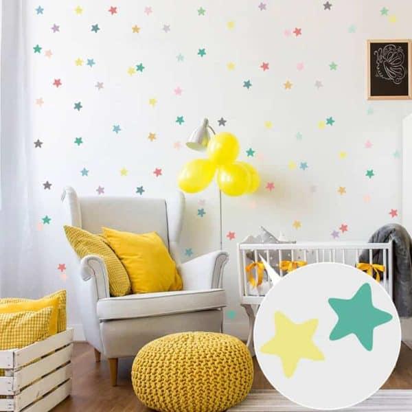 stenske nalepke za otroško sobo različnih barv