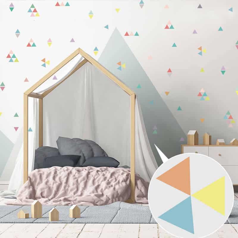 stenske nalepke za otroško sobo trikotniki
