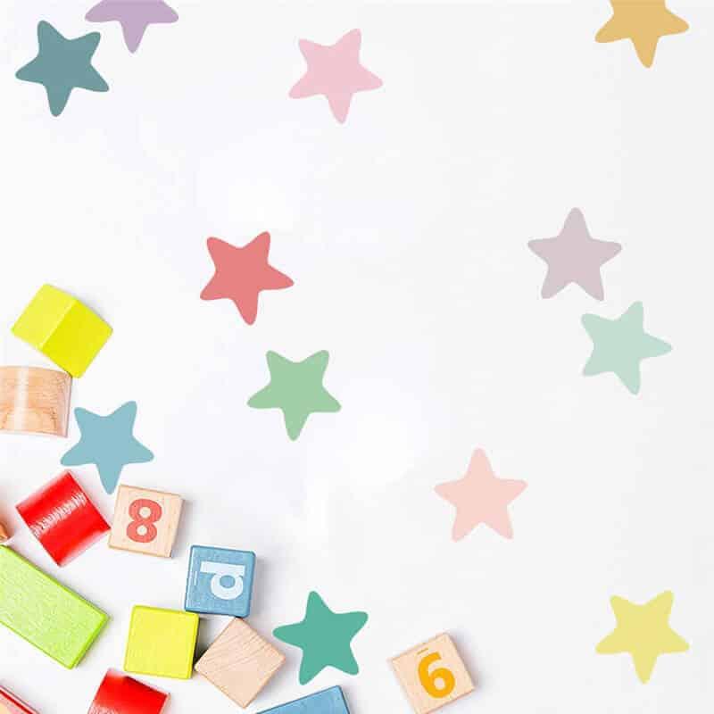 zvezdice otroške nalepke za sobo