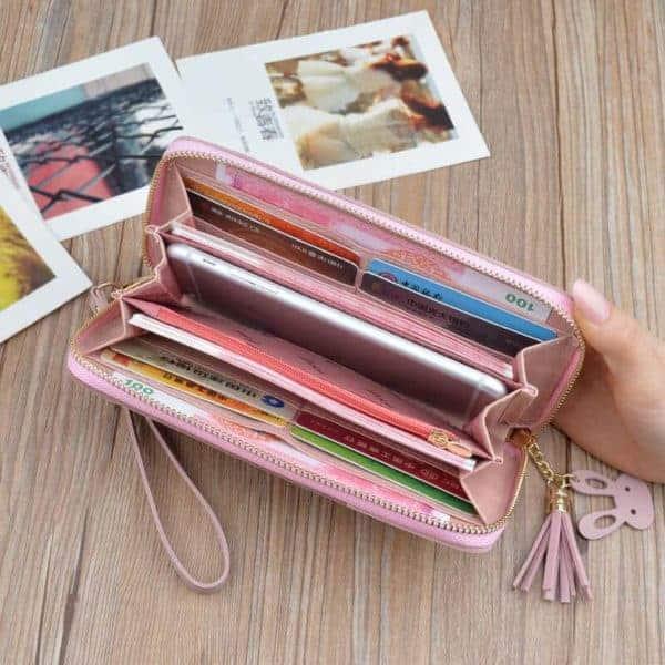 denarnica modna za ženske roza