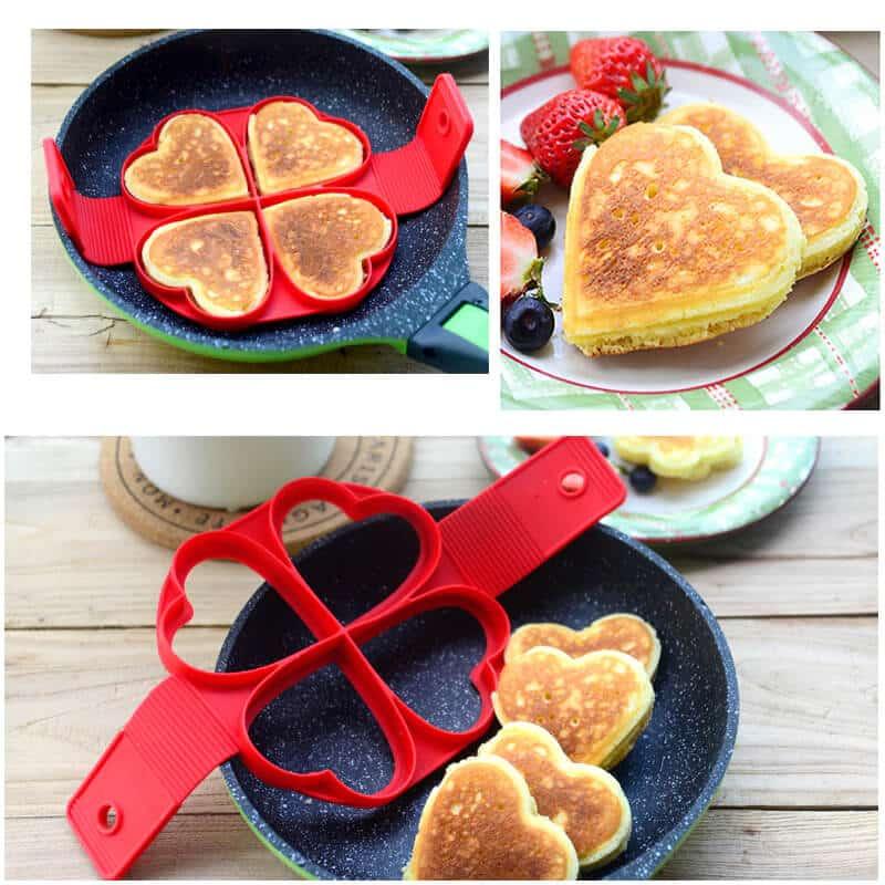 model za palačinke v obliki srca