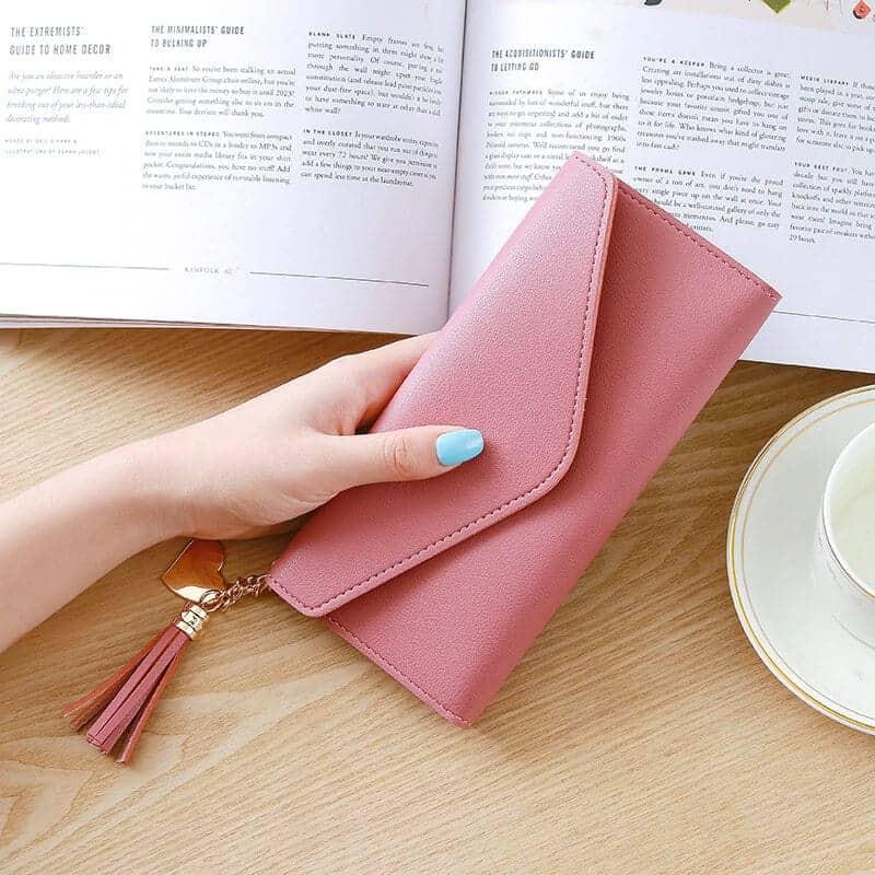 modna ženska denarnica roza barve