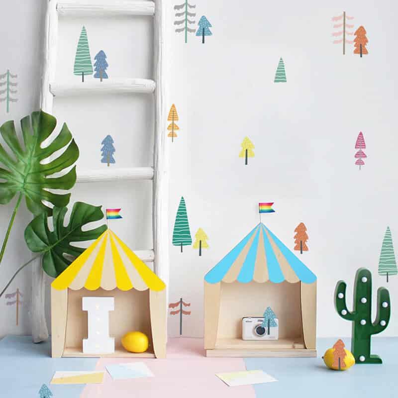nalepka za otroško sobo drevesa