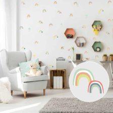 otroške stenske nalepke mavrice z oblaki