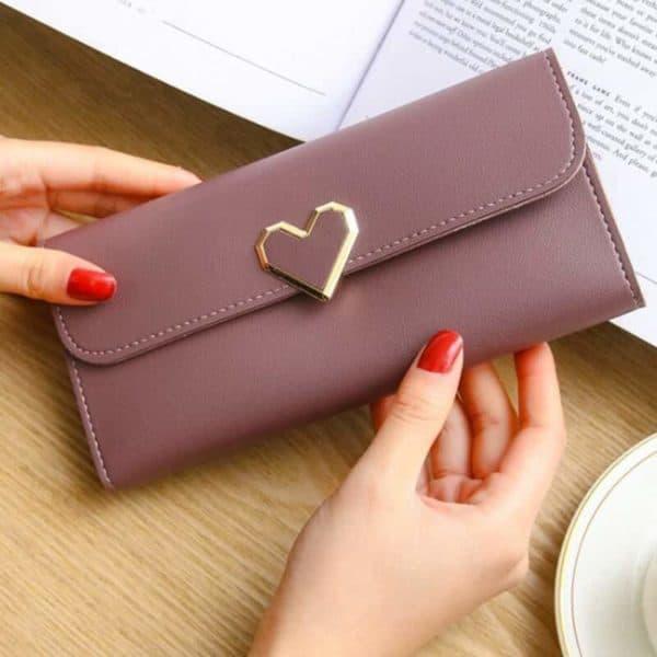 poceni dolga ženska denarnica vijolična