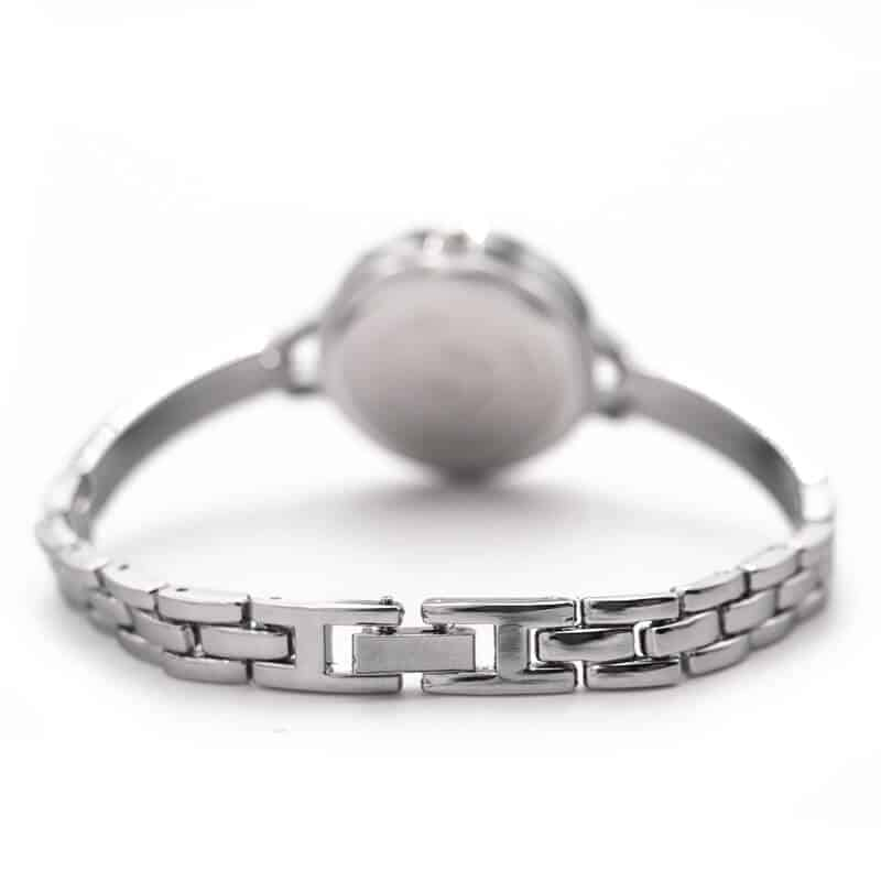 zaklep ženske modne ure srebrn