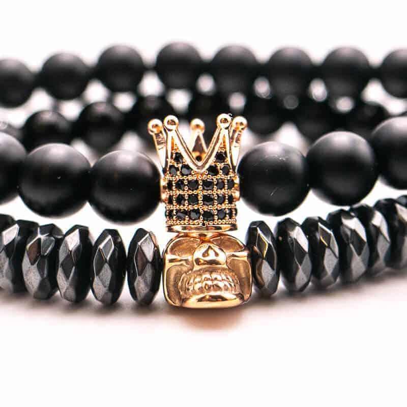 zapestnica crown moška zlata