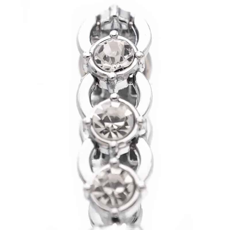 diamanti na ročni srebrni uri za ženske