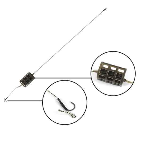 feeder sistem s krmilnikom za krapa
