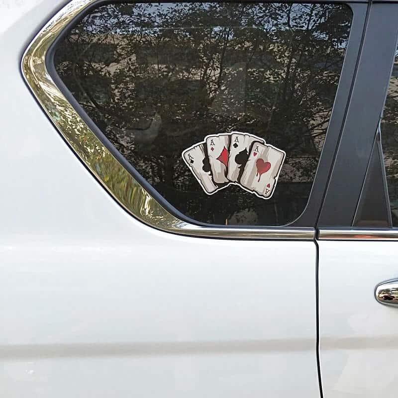 karte ase nalepke za avto