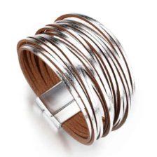 magnetna zapestnica srebrne barve