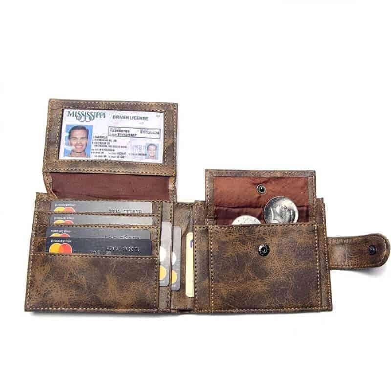 moške denarnice usnjene rjava