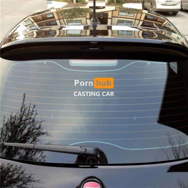 nalepka porn hub casting car