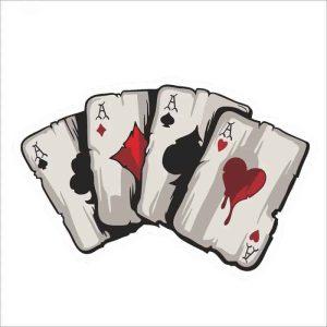 nalepka za avto barvne poker karte