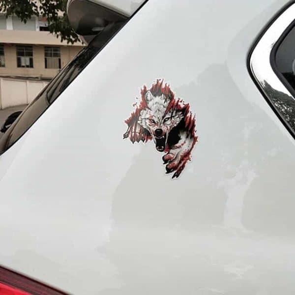 nalepka za avto jezni volk