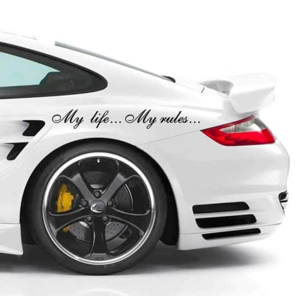 nalepka za avto my life my rules