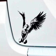 nalepka za avto ženska z angelskimi krili