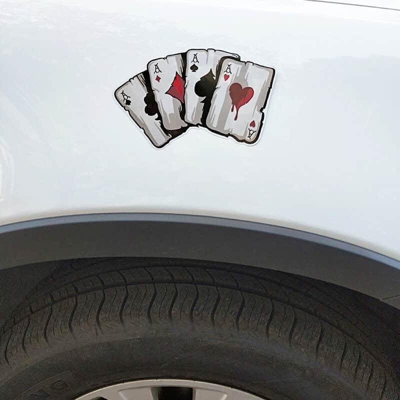 nalepke za avto igre na srečo ase