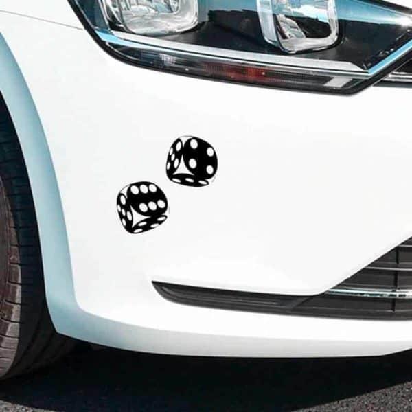 nalepke za avtomovil kocke črna barva