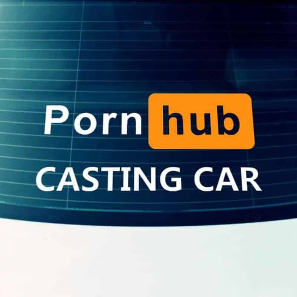 porn hub casting car nalepka