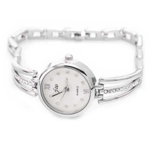 ročna ženska ura srebrna slowatch
