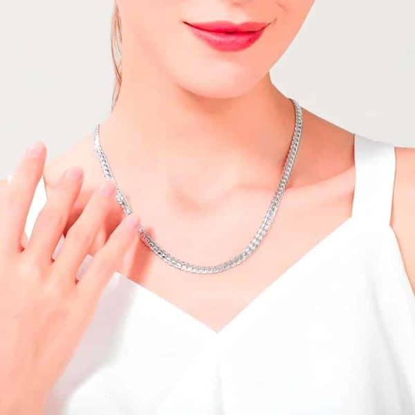 srebrna verižica za ženske