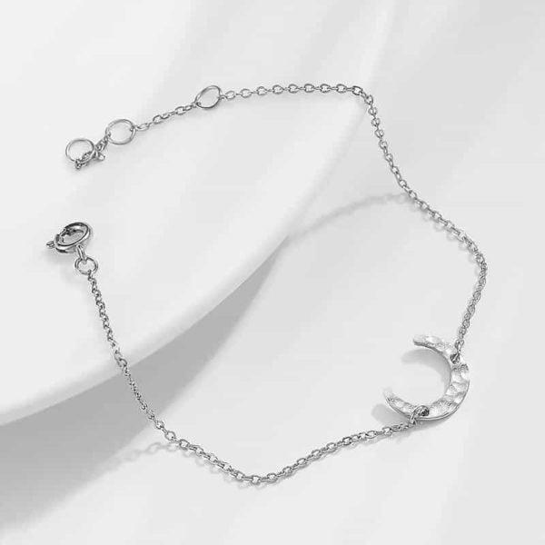 srebrna zapestnica mesec za ženske