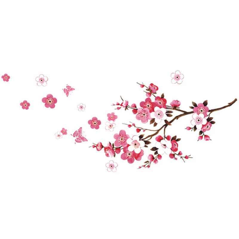 stenske nalepke veja s cvetovi
