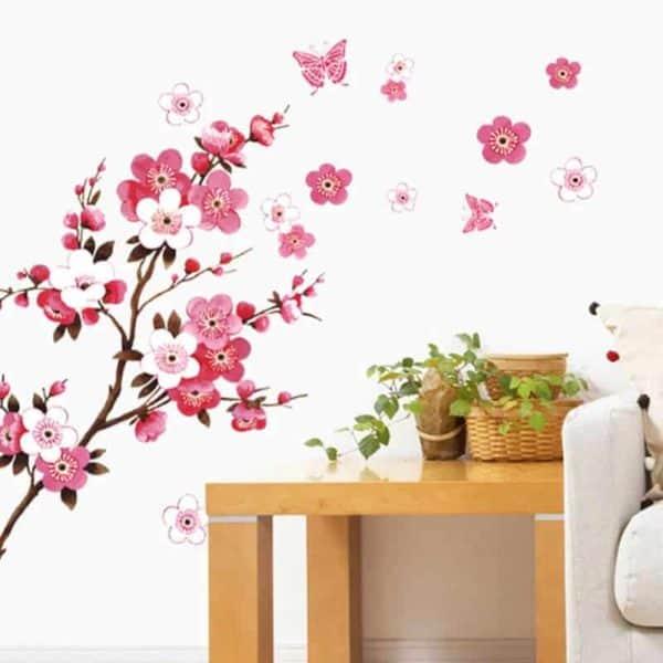 stenske nalepke za dnevno sobo drevo rože