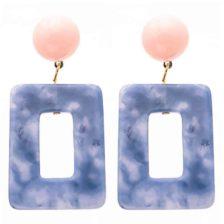 viseči uhani modre barve