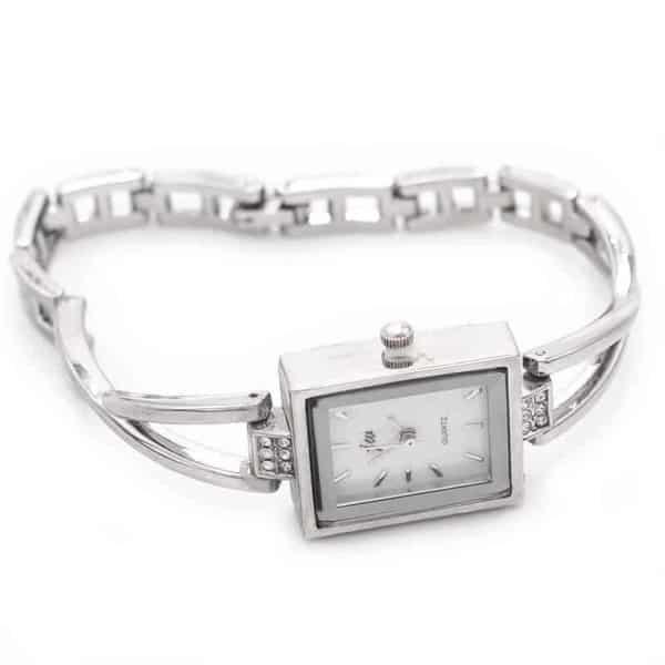 ženska ročna srebrna ura modna