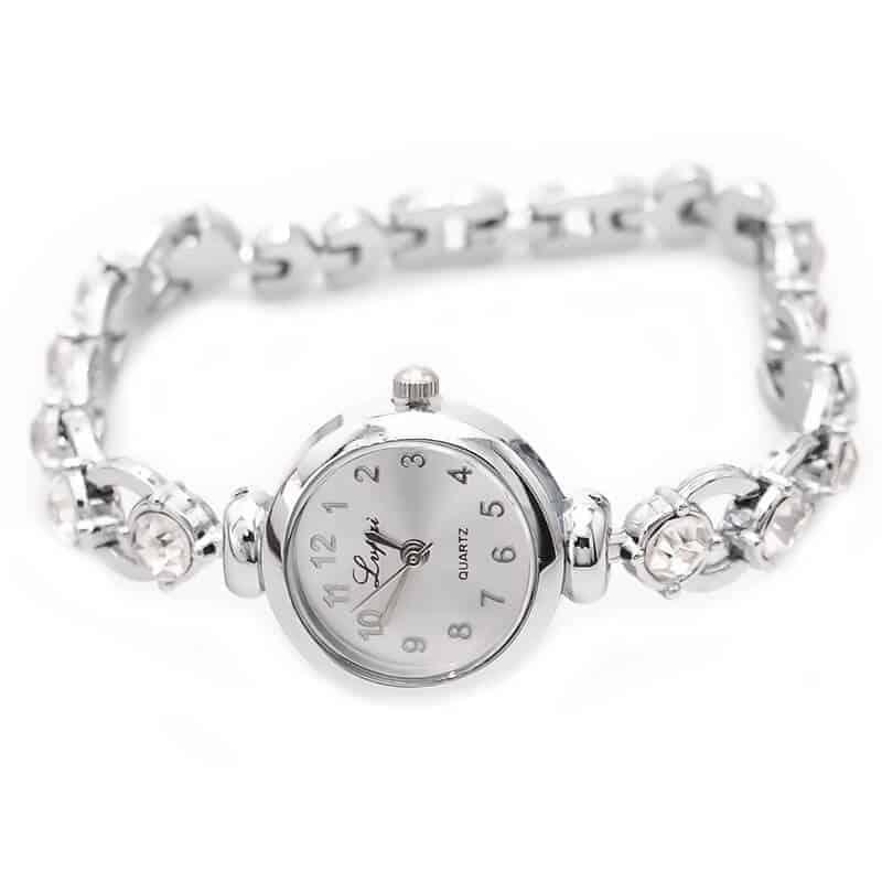 ženske ure ročne srebrne z diamanti