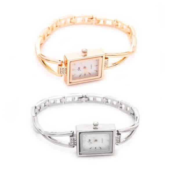 ženske ure srebrna in zlata ura