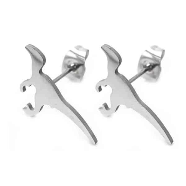 srebrni uhani dinozaver