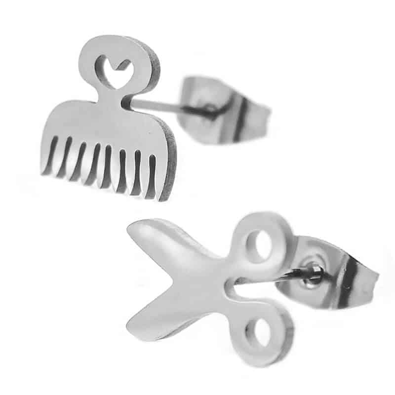 srebrni uhani frizerka