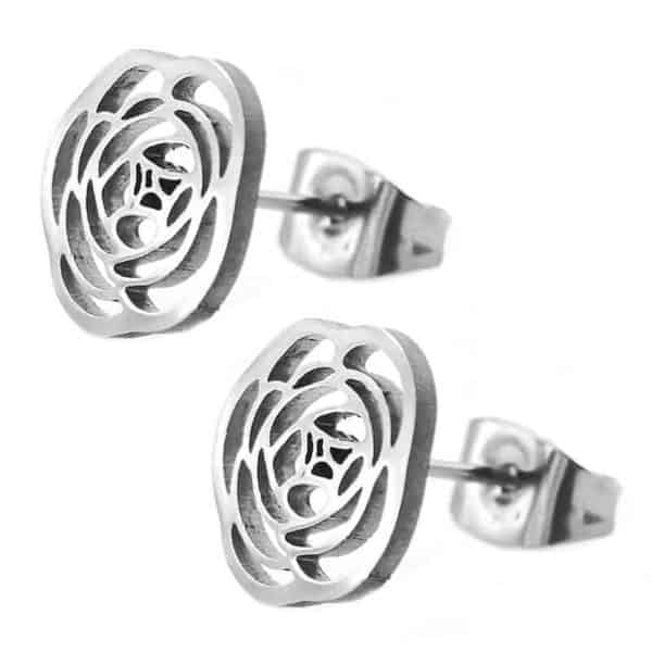 srebrni uhani vrtnica