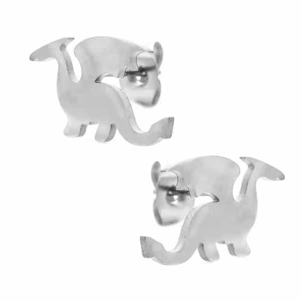 srebrni uhani zmaj