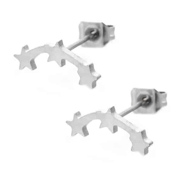 srebrni uhani zvezdice za ženske