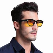 Črna očala z rumenimi lečami